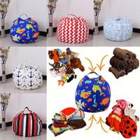 Wholesale Beanbag Beds - 32 Color Kids Storage Bean Bags Plush Toys Beanbag Chair Bedroom Stuffed Room Mats Portable Clothes Storage Bag 45CM WX9-169