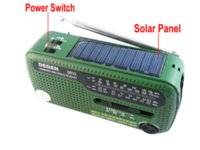 Wholesale Emergency Radio Degen - DEGEN portable mini fm radio DE13 FM MW SW Crank Dynamo Solar Emergency Radio World Receiver A0798A