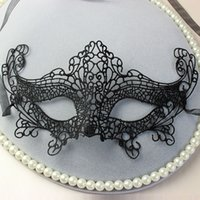 Wholesale Cat Lace Veil - Wholesale-Free Shipping 10pc lot vampire Cat woman Sexy Lady Lace party Mask Halloween Masquerade solid mask nightclub Black veil MJ04