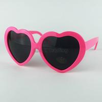 Wholesale Lolita Sunglasses Wholesale - 13 Colors Cheap Fashion Women Girl Summer Heart Shape Lolita Sunglasses Party Beach Sunshine Shade Hear