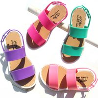 Wholesale European Fashion Girls Sandals - 2016 New summer girls shoes fashion european style kids sandals for girls 3-7y kids rubber sandal PVC leather kids sandals jelly shoes