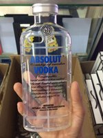 Wholesale Iphone 5g Skin Cover - ABSOLUT VODKA Wine Beer Bottle TPU Soft Clear 3D Transparent Crystal Shockproof case cover For iphone 6 Plus 6G 4.7 5.5 i6 5 5G 5S skin 5pcs
