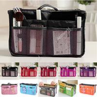 Wholesale Wholesale Wire Purses - Women Organizer Organiser Travel Bag Purse Handbag Insert Liner Large Tidy Free Shipping