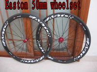 Wholesale Cycling Clincher - Cheap Easton Carbon Wheelset bicycle wheels 50mm clincher road cycling bike wheelset matte or glossy choose