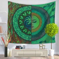 Colorful Tapestry Indian Sun Tapestry Wall Hanging Tiro Bohemian Tenda per porte Tapiz Mandala Tapestry Wall Hanging Tovaglia