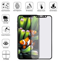 Wholesale 5d Body - For iPhone X iPhone 8 Plus 3D 5D Curved Full Covrage full body Cover Tempered Glass Screen Protector Film with Retail Box