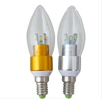 Wholesale E14 Candle Led 7w - Chandelier LED bulbs E14 E27 Led Candle bulb led lamps Energy-saving lamps led lighting 3W 5W 7W Epistar 5730 3528 SMD CE ROHS 360 Degree