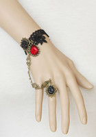 """Wholesale Vampire Bracelet Charms - Retro Vampire Slave Bracelet Costume Jewelry Gothic Style Adjustable approx 6"""" to 8"""" Party Gift"""