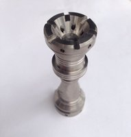Wholesale royal nails - Newest Fully Adjustable Royal Domeless Titanium Nail 14mm 18mm Fit Male and Female GR2 Titanium Domeless Nails Glass Bong Accessories