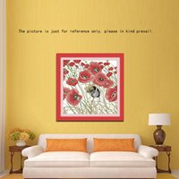 order poppies - DIY Home Decoration CT Poppies and Mouse Pattern Cross Stitching Handmade Needlework Counted Cross Stitch Set Embroidery Kit order lt no t