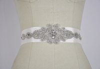 Wholesale clear beaded belt - Clear crystal beaded Bridal Sashes wedding dresses belts 2015 wedding accessory TB048