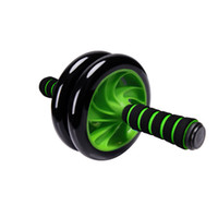 Wholesale Roller Abdominal Exercise - fitness equipment home indoor dual wheel mute non slip foam handle abdominal muscle exercise training ab roller