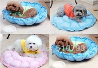 Wholesale Lovely pet supply Practical Soft Slumber Pet Plush Bolster Round Dual Purpose Nest Pet Dog Bed