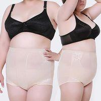 Wholesale Wholesale Cotton Corsets - Wholesale- Women Corset Fitness Shaping Underwear Cotton Abdomen Plus Size Body Shaper