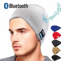 Wholesale bluetooth speakers for cell phones resale online - Bluetooth Beanie Hat Headphones Washable Winter Knit Cap with Stereo Bluetooth Headset Earphones Speakers Mic for iPhone Samsung Android