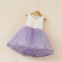 Wholesale Organic Childrens Clothing Wholesale - Baby Girls Clothes Lace Tutu Dresses Fashion Childrens Prubcess Sleeveless Dresses for Kids Clothing 2017 Summer Sequins Party Dress ZZ-797