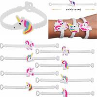Wholesale Rubber Wristbands Kids - Cute Unicorn Rubber Bangle Bracelet Sport Wristbands Kids Birthday Party Cute Bracelets Women Fashionable Jewelry Accessories