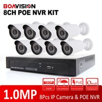 Wholesale Security Camera System Poe Outdoor - 8Ch CCTV System 720P PoE NVR Motion Detection Recording 8Pcs 1.0MP IR Outdoor Waterproof IR IP CCTV Security Camera System NVR Kits