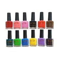 Wholesale nude ladies art - Wholesale- 10ML 12 Colors Water Peel Off Nail Polish Quick Dry DIY Nail Art Design Easy Clean Lady Girl Non-toxic Safety Nail Polish