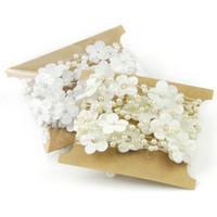 perlen blumen materialien großhandel-Flache Rückseite Weiß ABS Nachahmungen von Perlen Perlen Kette Blume Hochzeit Kleidung Dekoration DIY Schmuck machen Materialien