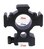 alcance de la pc al por mayor-El alcance del barril de tres rieles de aleación de aluminio se monta en riel de 21 mm - Negro (1 PC)