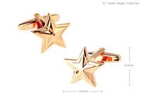 Wholesale Gold Star Cufflinks - Xmas Gift!High Quality New Classic Silver Copper Mens Wedding Cufflinks Novelty Rare Fancy Star & Clean Cloth 158291