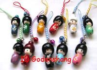 Wholesale Biggest Mobile Phone Wholesalers - Wholesale-LOT 500 Biggest KOKESHI Doll Mobile Phone charms