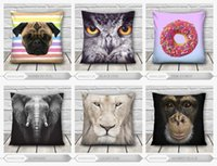 Wholesale 3d lighting bedding sets - Wholesale-20Hot Sale 40*40cm Dog Lion animals 3d printed Throw Pillow Cushion Pillowcase Bed Set Decorate for Couch Best Quality
