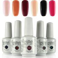 Wholesale Color Soak - 12pcs lot Nexu Gelish Nail Polish Soak Off Nail Gel Polish (10pcs color gel+1pc top coat+1pc base) 403 New Colors!