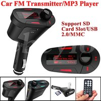 Novo Kit Car MP3 Player Transmissor FM sem fio USB wireless modulador wma LCD SD MMC Com azul / luz vermelha remoto