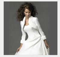 Wholesale Long Coats For Sale - White Short Soft Full Faux Fur Bridal Coats Hot Sale Long Sleeve Winter Warm Shrug Bolero Women Wraps Jacket For Prom Party