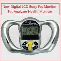 dijital vücut analizörü toptan satış-Yeni Dijital LCD Vücut Yağ Monitör Yağ Analyzer sağlık cihazı