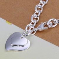 ingrosso braccialetto d'argento doppio collegamento-