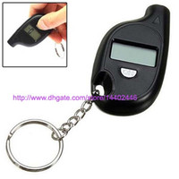 200pcs Mini Keychain LCD LCD Écran Numérique Tire Tire Air Pressure Gauge Tester Key Ring pour Auto Car 5-150PSI Bike Motorcycle