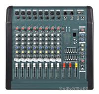 Wholesale Channels Power Mixing - NEW Professional Audio Powered Amplifier Mixer 8 Channels Double 7 Graphic EQ Mixing Console Mezcladora De DJ 350Wx2 MX806D