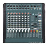 Wholesale Dj Powered Mixer Console - NEW Professional Audio Powered Amplifier Mixer 8 Channels Double 7 Graphic EQ Mixing Console Mezcladora De DJ 350Wx2 MX806D