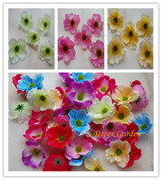 Wholesale silk poppy flowers - 7CM Artificial Poppy Decorative Silk Flower Head For DIY Hair Garland Wreath Flower Home Decoration accessory props