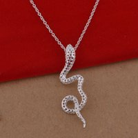 Wholesale 925 Sterling Silver Pendant Large - 925 sterling silver necklace Korean version of the popular hollow snake necklace jewelry wholesale trade large spot