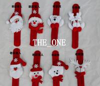 Wholesale Slap Wrist Bands - new christmas decoration christmas bracelets christmas slap bracelet christmas wrist band strap stuffed santa claus Snowman Reindeer Bear