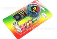detectores de metal frete grátis venda por atacado-Frete grátis por atacado ---- CH-405 kit tubo de metal / metal bong, detectores de fumaça + Get mill filtros, tubo de 8.3 * 3 * 1.8 cm, detector de fumaça moinho