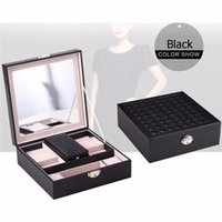 Wholesale Display Jewellery Bracelets Watches - New Arrival Luxury Jewelry Display Watch Necklace Bracelet Earrings Ring Storage Fashion Jewellery Box Case