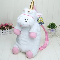 Wholesale Despicable Plush Bags - Free Shipping Despicable me 2 60cm Soft Unicorn Plush Backpack Bag Gift For Girls