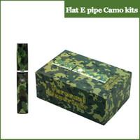 Wholesale Wax Burner Vaporizer - 2015 Flat E cigar Epipe camo vaporizer pen 360mAh snoop dogg battery wax vaporizer kit wax burner electronic cigarette kit
