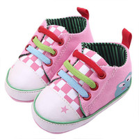 Wholesale Frog Shoes - Wholesale-2015 Colorful Baby Girls Toddler Frog Pattern Sports Shoes Soft Bottom Classic Sports Sneakers Bebe Shoes T-tied Shoes