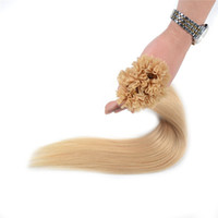 Wholesale hair styling tip for sale - Group buy Brazilian Hair Extension Straight Style Indian Peruvian Malaysian U tip Remy Human Hair quot quot s platinum blonde free DHL