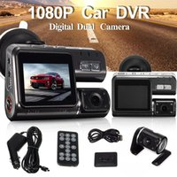 Double objectif voiture DVR caméra I1000 Full HD 1080p 2.0