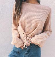 Wholesale Crochet T Shirt Color - Fashion Cheap women's knitting T-Shirts Casual Clothing long Sleeve T shirt Female Loose Long-sleeved knit shirt bottoming sweater