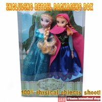 Wholesale Selling Doll - 2PCS Lot Hot Sell Princess 11.5 Inch toys Elsa and Anna Good Girl Gifts toys Doll 12 Joint Moveable