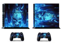 Blue Fire 256 Vinly Skin Sticker Protector para Sony PS4 PlayStation 4 y 2 skins controlador Pegatinas