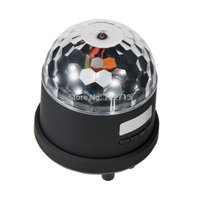 Wholesale Disco Speakers - Wholesale-18W Sound Control Disco RBG 6LED Speaker FM Light Stage Party Lighting USB digital audio player support MP3 MP4 & PC Player